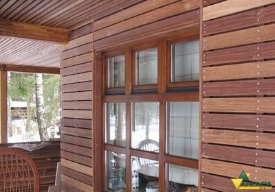 фасадный планкен из лиственницы