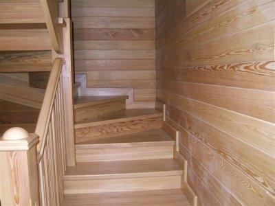 лестница из мебельного щита