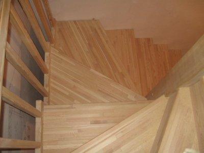 мебельный щит из дерева лестница