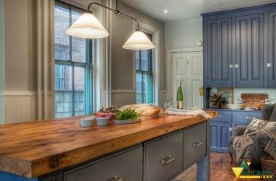 мебельный щит из сосны 18 мм в интерьере кухни
