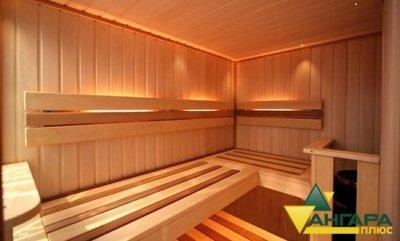 планкен в интерьере бани