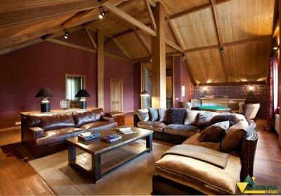 планкен лиственницы дизайн и интерьере дома