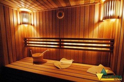 планкен пример отделки бани