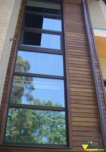 планкен из лиственницы пример отделки фасада дома
