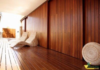 планкен пример отделки стен