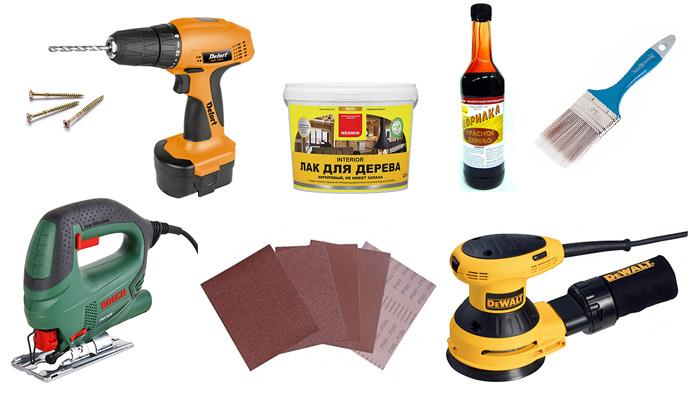 Инструменты для стула из мебельного щита
