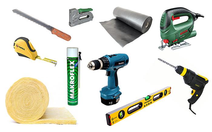 Инструменты для укладки пола на балконе