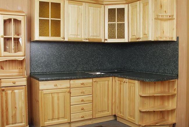Как сделать кухню из ели 218