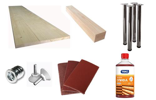 материалы для стола из мебельного щита