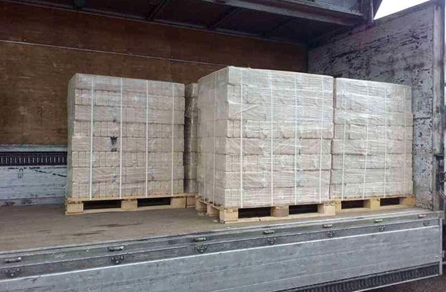 Хранение и транспортировка топливных брикетов