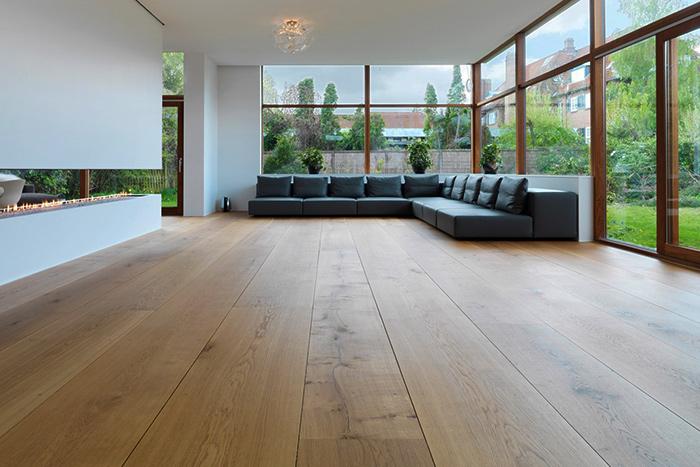 Деревянный пол из мебельного щита