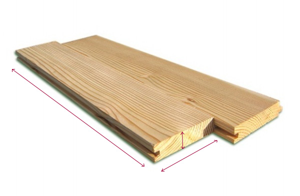 Толщина, ширина и длина половой доски