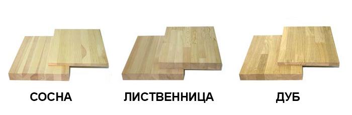 Породы дерева для мебельного щита