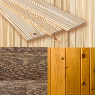 мебельные щиты из разных пород дерева - сосны, кедра, лиственницы