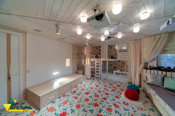 вагонка штиль в интерьере детской комнаты