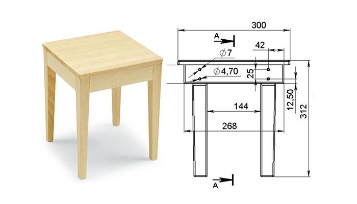 Стул из мебельного щита