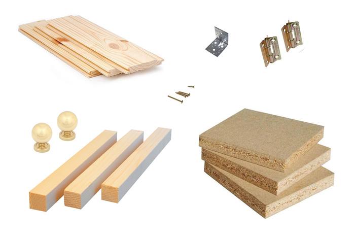 Материалы для шкафа на балкон из вагонки